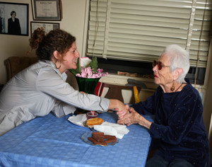 Sometimes a Citymeals-on-Wheels volunteer is the only human contact a meal a homebound recipient may have for the week